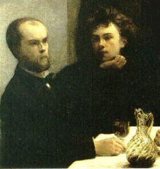 Un coin de table (Verlaine et Rimbaud - détail) par Henri Fantin-Latour (1872).jpg
