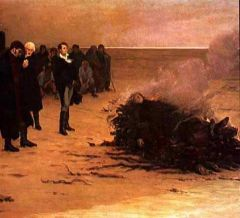 La crémation de Shelley - Louis Edouard Fournier 1889.jpg