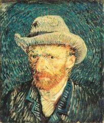 Vincent van Gogh -- Autoportrait au chapeau gris.JPG